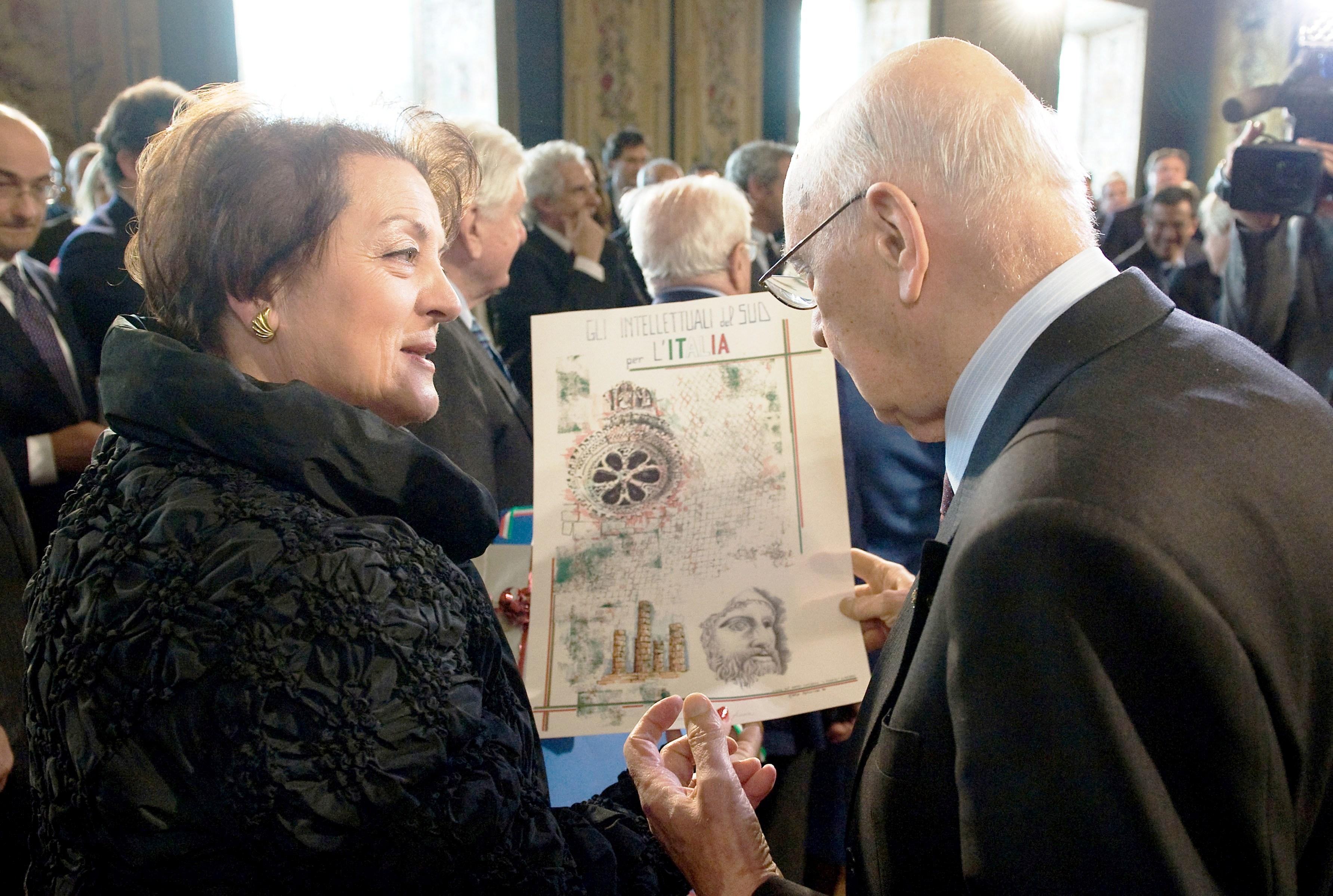 2011 Quirinale Presidente Giorgio Napolitano e Rosa N. Tomasone