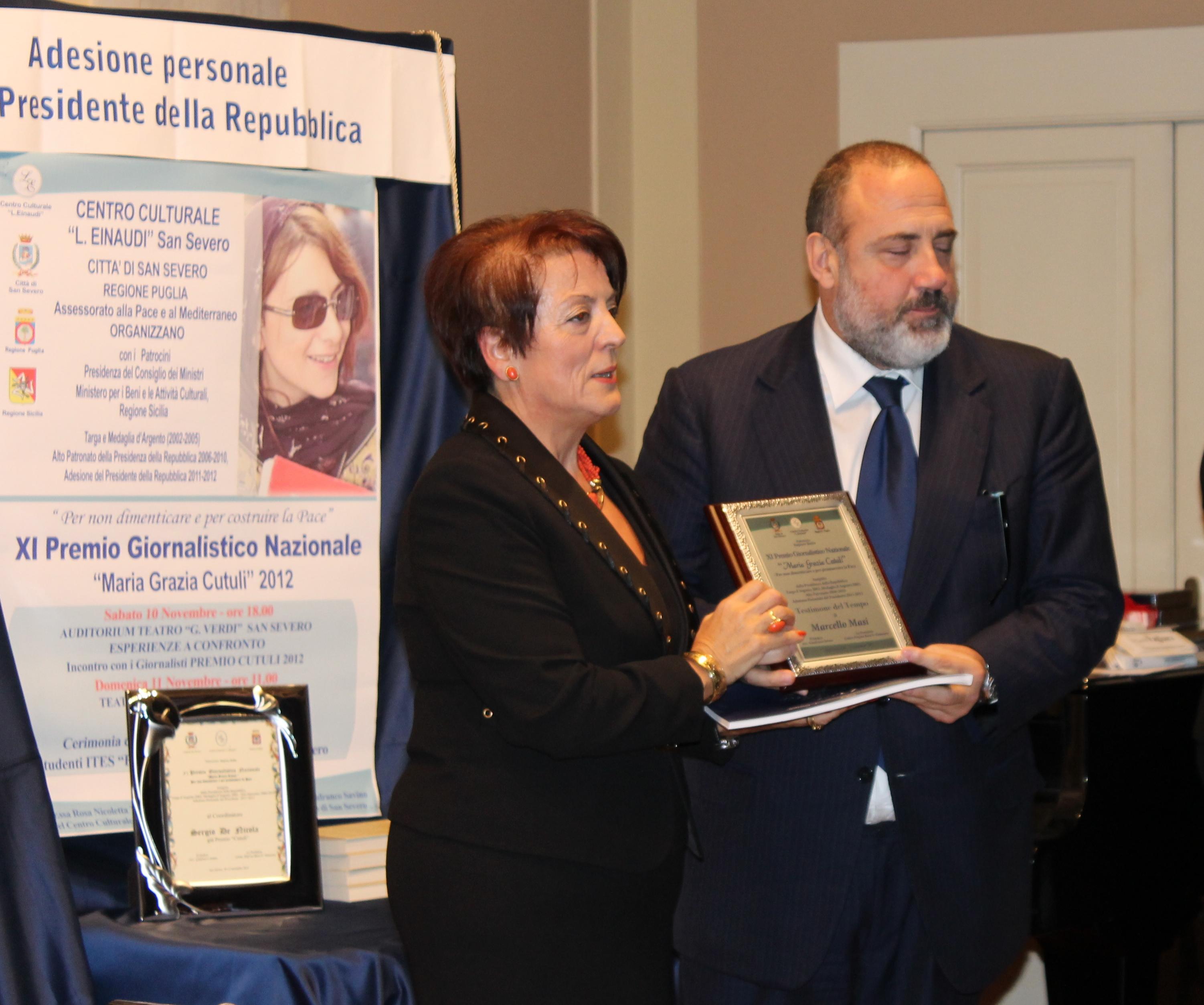 2013 Rosa Tomasone premia Marcello Masi