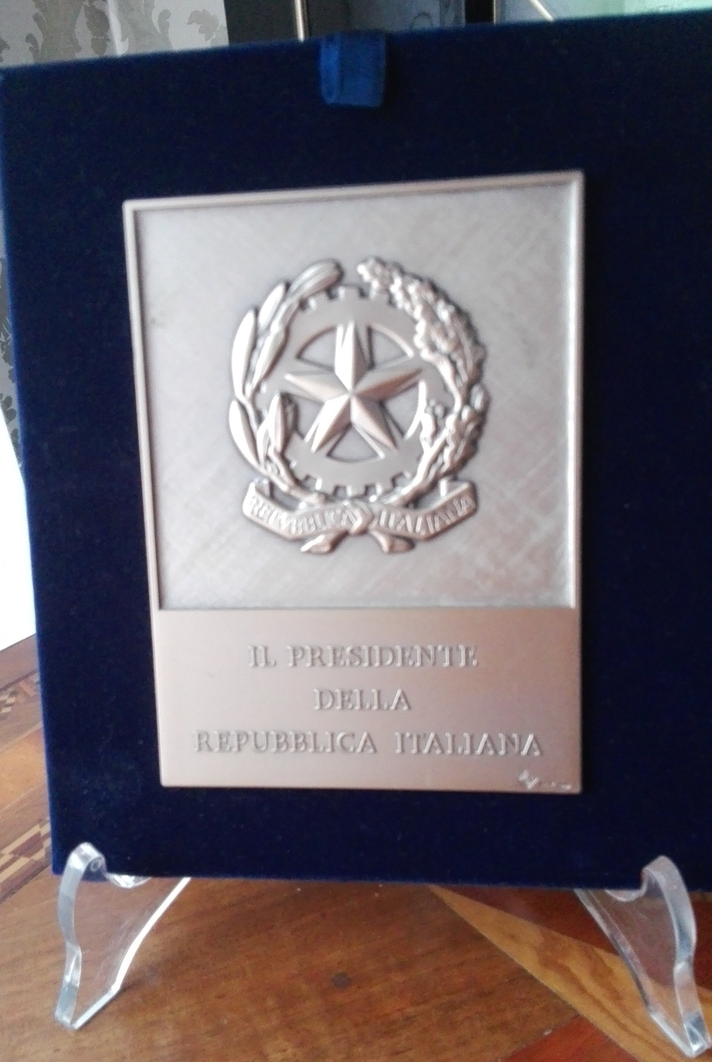 Targa del Presidente della Repubblica